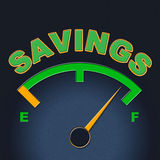 Savings Gauge Indicates Invest Monetary And Cash Royalty Free Stock Photos