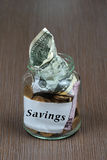 Savings glass jar Stock Photography