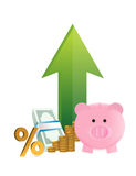 Savings going up Royalty Free Stock Photography
