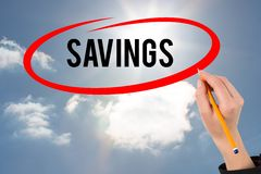 savings graphic Stock Image