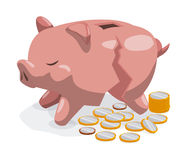 Savings graphic Royalty Free Stock Image