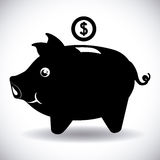 Savings graphic Royalty Free Stock Images