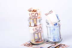 Savings hidden in a jar Stock Photo