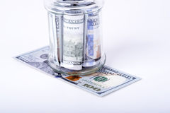 Savings hidden in a jar Royalty Free Stock Photo