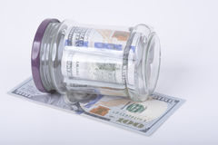 Savings hidden in a jar Royalty Free Stock Photos