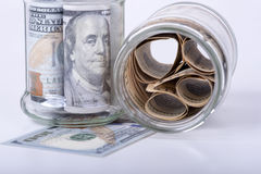 Savings hidden in a jar Royalty Free Stock Image