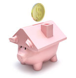 Savings for a house Stock Photo