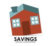 Savings house Royalty Free Stock Photos