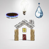 Savings i oferty usługa energia i woda Fotografia Royalty Free