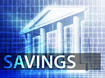 Savings illustration Stock Photo