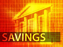 Savings illustration Stock Images