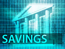 Savings illustration Stock Photos