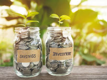 Savings and investment, money growing concept. Royalty Free Stock Photography