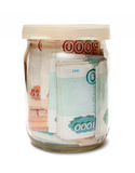 Savings in jar Stock Photo