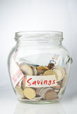 Savings jar Stock Image