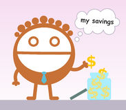 Savings in a jar Royalty Free Stock Photos