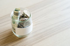 Savings jar Royalty Free Stock Images