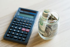 Savings jar Royalty Free Stock Image