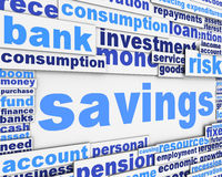 Savings message conceptual design. Savings message design. Financial conceptual design Stock Images