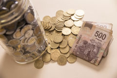 Savings mexican currency Stock Images