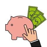 Savings money design. Illustration eps10 graphic Stock Photo