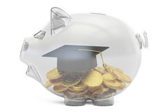 Savings money for education concept, 3D rendering Royalty Free Stock Photo
