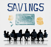 Savings Money Finance Economics Currency Concept.  Stock Photos