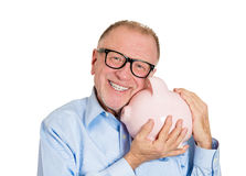 Savings in old age Stock Images