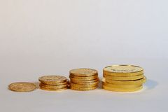 Savings over time, gold concept Royalty Free Stock Images