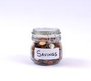 Savings pieniądze słój zdjęcia stock