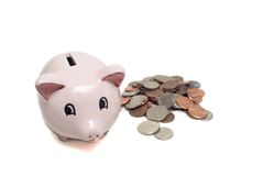 Savings piggy bank. Savings bank Stock Photo