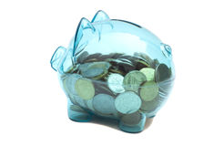 Savings in piggy bank Stock Images