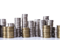 Savings in piggy bank! A lot of money! Royalty Free Stock Image