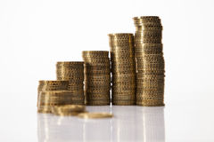 Savings in piggy bank! A lot of money! Royalty Free Stock Photography
