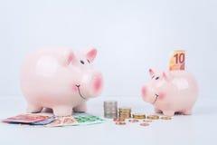 Savings and piggy bank Royalty Free Stock Photo