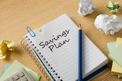 Savings plan Royalty Free Stock Photo