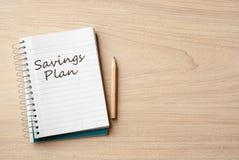 Savings plan Stock Image