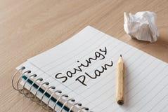 Savings plan Stock Photo