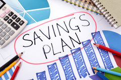 Savings plan, investment growth chart Royalty Free Stock Photography