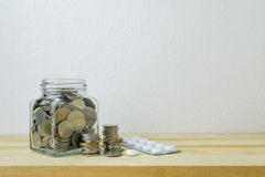 Savings plans for Healthcare and Medicine, Stock Photography