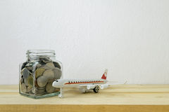 Savings plans for Travel budget Royalty Free Stock Photography