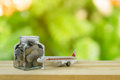 Savings plans for Travel budget Stock Photos