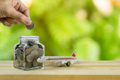 Savings plans for Travel budget Stock Photography