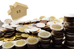Savings plany dla mieścić, pieniężny pojęcie Obrazy Stock
