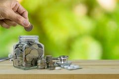 Savings plany dla opieki zdrowotnej i medycyny Zdjęcia Royalty Free