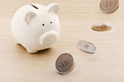Savings prediction Stock Images
