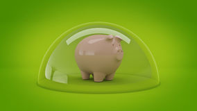 Savings Protection Concept. 3d rendering Stock Photography
