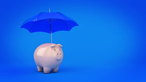 Savings Protection Concept. 3d rendering Royalty Free Stock Photography