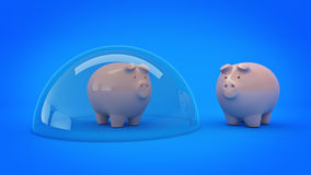 Savings Protection Concept. 3d rendering Stock Photo