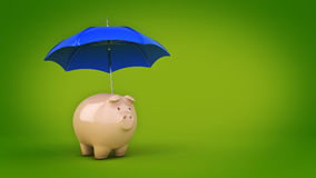 Savings Protection Concept. 3d rendering Royalty Free Stock Photo